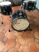 Sonor Vintage Series Vintage Black Onyx Drums Matching Snare Cases Heads