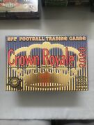 2000 Pacific Crown Royale Nfl Football Factory Sealed Hobby Box - 24 Packs