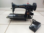 Vintage Singer 1851 - 1951 Sewing Machine With Pedal