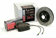 Stoptech 979.40010 Front And Rear Sportstop Drilled Brake Kit For Accord L4 2.4l