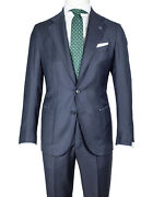 Petrillo Suit In Dark Blue From Wool/cashmere Regeur1490