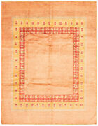 Vintage Hand-knotted Carpet 8and0391 X 10and0391 Traditional Copper Wool Area Rug