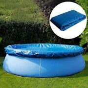 Above Ground Swimming Pool Cover For Winter Round Safety Pe Blue 6/8 Ft