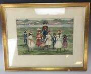 Maurice Prendergast Attr. Childrenand039s Story Original Watercolour Hand-signed