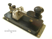 Rare Telegraph Straight Key With Serial Number Used In Exussr Navi