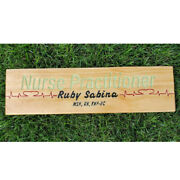 Personalized Nurse Sign Medical Field Gifts Hospital Wall Decor Carved Wood Sign
