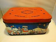 Vtg. Lithographed Circus Tin Advertising The Great Supreme Biscuit Animal Show
