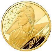 Uk 2020 Andpound25 David Bowie 1/4 Oz 9999 Gold Proof Limited 1300 Made