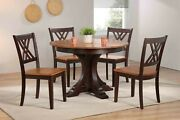 5-piece Table And 4 Chairs- Transitional Style