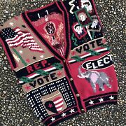 Vtg Vote 2020 Election Republican Party Conservative Ugly Christmas Sweater Vest