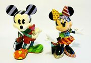 Romero Britto And Disney Mickey And Minnie Mouse 8 Figurines
