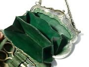 Antique 19thc French Purse Sewing Etui Tools Brevete Polished Steel