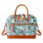 Its A Small World Satchel Disney Dooney And Bourke Brand New In Plastic Free Ship