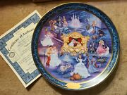 Disneyand039s Cinderella And039ever Afterand039 Bradford Exchange Collectors Plate W/coa