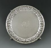 Antique 1890-1896 Kirk And Son 917 Coin Purity Silver Repousse Card Tray Platter