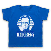 Christopher Hitchens Unofficial Atheist Author Tribute Kids Childs T-shirt