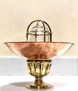 Nautical Ship New Passageway Bulkhead Ceiling Light With Copper Shade Lot 10