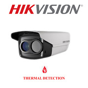 Hikvision Cctv Security Thermal Bullet Camera 25mm Lense Outdoor Surveillance