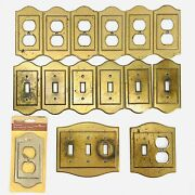 Vtg Brass Amerock Charter Collection Light Switch Outlet Receptacle Covers Lot