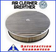 14 Ploshed Aluminum Finned Breather Cleaner Air Filter Fits Ford Chevy Sbc Bbc