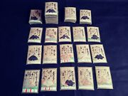 Antique Japanese Card Game Hyakunin Isshu 100 Of Poems And 100 Of Poets