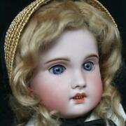 Sfbj Jumeau Mohair Bisque Fabulous Antique Doll Used Fast Shipping From Japan