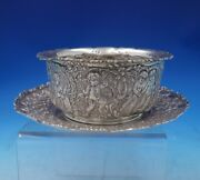 And Co Sterling Silver Childand039s Set 2pc Bowl And Plate W/ Cupids 0111