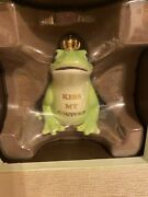 Juicy Couture Kiss My Couture Frog With Crown Ceramic Piggy Bank