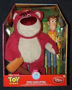 Toy Story Talking Pull String Woody And Lotso Large Action Figures Collector Set
