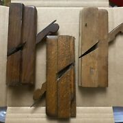 Antique / Vintage 3 Unusual Wooden Hand Plane Woodworking Tools Lot B