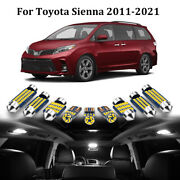 21x Led Interior Lights Package For 2011-2021 Toyota Sienna +license Plate Light