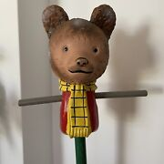 Vintage Rupert Bear Pull Along Hobby Horse Style Toy 1950's Very Rare