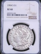1904-s Morgan Silver Dollar Ngc Xf40 Some Luster, Pq Just Graded Ge996