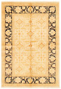Vintage Hand-knotted Carpet 6and0390 X 8and0399 Traditional Light Khaki Wool Area Rug