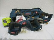 Ryobi Cordless Power Tools 18v Lot In Large Tool Bag Tested And Works See Photos