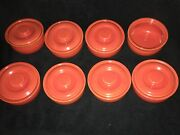 Radioactive Red Fiesta Kitchen Kraft Individual Casserole And Lid -set Of 8-see