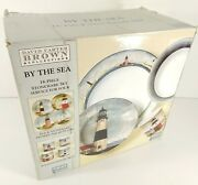 New David Carter Brown By The Sea Lighthouse Collection 16 Piece Set