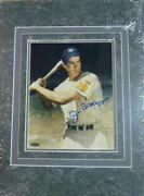 Joe Dimaggio Autographed New York Yankees 8x10 Matted Photo Tristar 11064