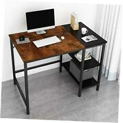 Home Office Computer Desksmall Study Writing 40 Inches A-vintage Oak Finish