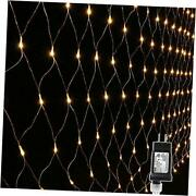 12ft X 5ft 360 Led Net Lights 8 Modes Low Voltage Mesh Christmas Warm White