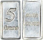 Pure Solid .999 5gn Silver Bar Bullion Precious Metals Real Scrap Jewelry Coins