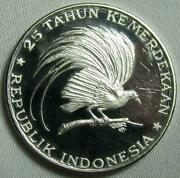 Indonesia 1970 Silver 200 Rupiah 25th Anniv. Of Independence Proof
