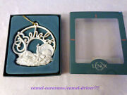 Vintage Lenox Holidaywishes Behold Baby Jesus Ornament Porcelain W/box