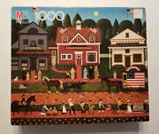 Charles Wysocki 1000 Piece Puzzle 4th Of July 1990 Mb Sealed New