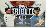 2021 Topps Tribute Baseball Hobby Box 3 Autos And 3 Relics Free Shipping