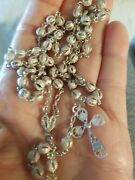 Antique Hand Made Italian Sterling 925 Ornate Filigree Rosary Beads Excellent.
