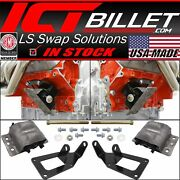 1973-1987 Chevy Square Body Truck - Ls Swap Engine Mount Kit For 2wd 4wd Ls1 Ls3