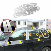 Silver Steel Windows Strip Sill Molding Cover Trim Fit For Bmw X5 E70 2008-2013