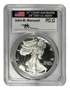 1986 S Ngc Pf70 Ultra Cameo American Silver Eagle Hand Signed By John Mercanti