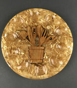 Vintage Lucite Acrylic Deviled Egg Plate Trivet Wooden Spoons Straw Mid-century